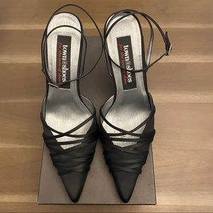 Town Shoes Satin Heels with ankle straps
